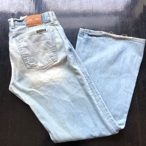 Lucky Brand Lil Maggie Jeans Distress Boot Cut 14